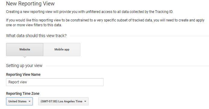 Google Analytics New Reporting View